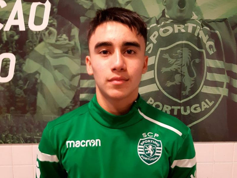SPORTING TRIAL: Alexi made a good exhibition during a training trial at Sporting CP in November 2019