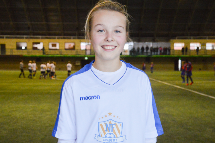NF Academy is looking for talented young players, regardless of their nationality or gender: Cille Nilsen is the first woman joining the NF Scholarship.