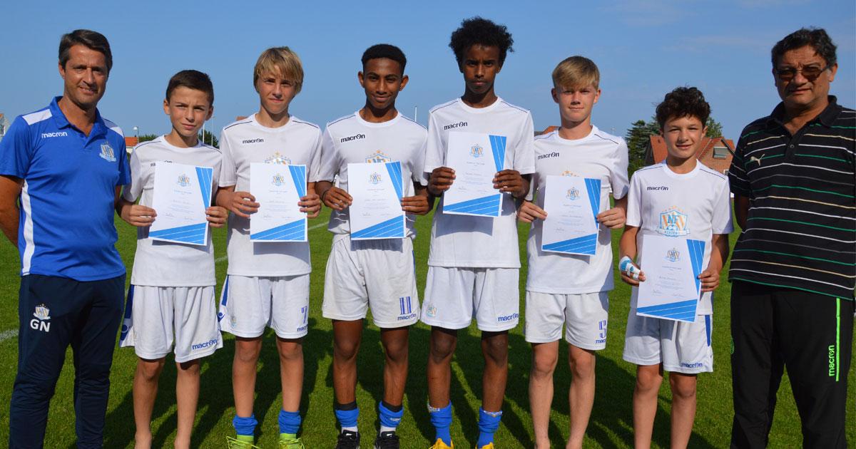 NF Qualification Campin voittajat 2019, saivat palkinnoksi try-outin Sporting CP Academyssä